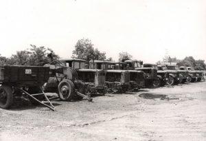 Първото оборудване на машинния парк