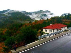 """""""Омара над Твърдишкия Балкан"""" От улицата, на която живея в Твърдица, винаги могат да се видят много интересни пейзажи. Един ден, докато вървях към магазина, видях тази гледка и я снимах. Омарата над планината се движеше, все едно облаците бяха слезли да се разходят сред горските дървета."""